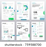 presentation booklet cover  ... | Shutterstock .eps vector #759588700