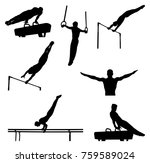 set men athletes gymnasts in...