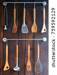 kitchenware wooden and... | Shutterstock . vector #759592129