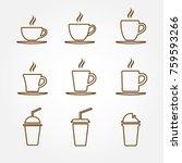 coffee shop icon set | Shutterstock .eps vector #759593266