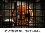 Small photo of Bitcoin Bans,BTC illegal blockchain technology for cryptocurrency, 3D Rendering