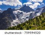 the meije glacier  the glacier... | Shutterstock . vector #759594520