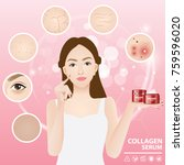 problems skin woman vector... | Shutterstock .eps vector #759596020