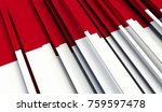 fragment flag of indonesia. 3d... | Shutterstock . vector #759597478