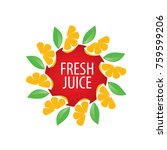 logo of fresh juice | Shutterstock .eps vector #759599206