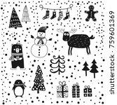 hand drawn illustration of... | Shutterstock .eps vector #759601369