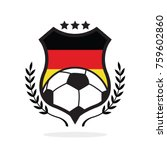 germany national flag football... | Shutterstock .eps vector #759602860