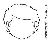 cute grandmother head avatar... | Shutterstock .eps vector #759607018