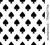 seamless pattern playing cards... | Shutterstock .eps vector #759607756