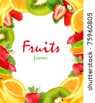 fruits frame | Shutterstock . vector #75960805