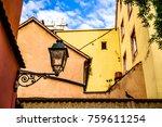 old  antique streetlamp  ... | Shutterstock . vector #759611254
