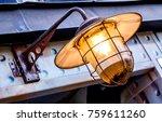 old  antique streetlamp  ... | Shutterstock . vector #759611260