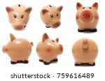 close up view of a cute pink... | Shutterstock . vector #759616489