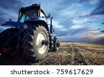 tractor working on the farm  a... | Shutterstock . vector #759617629