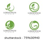 leaf green nature logo and... | Shutterstock .eps vector #759630940