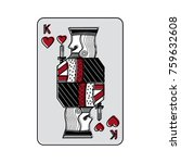 king of hearts french playing... | Shutterstock .eps vector #759632608