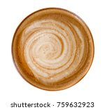 top view of hot coffee latte... | Shutterstock . vector #759632923