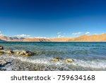 beautiful view of pangong lake  ... | Shutterstock . vector #759634168