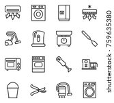 thin line icon set   air... | Shutterstock .eps vector #759635380