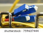 optic fiber cables with sc type ... | Shutterstock . vector #759637444