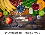 background healthy food for...   Shutterstock . vector #759637918