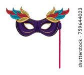 mardi gras mask | Shutterstock .eps vector #759644023