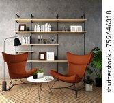 interior design for living area ... | Shutterstock . vector #759646318