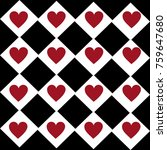 hearts in checkered pattern...