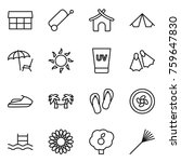 thin line icon set   market ... | Shutterstock .eps vector #759647830