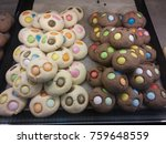 cocoa and milk cookie | Shutterstock . vector #759648559