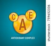 vitamin a  c  e  icon.... | Shutterstock .eps vector #759652336