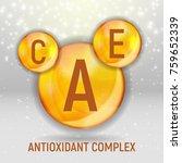 vitamin a  c  e  icon.... | Shutterstock .eps vector #759652339