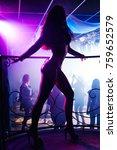 young girl dancer go go on...   Shutterstock . vector #759652579