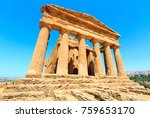 temple of concordia in famous... | Shutterstock . vector #759653170