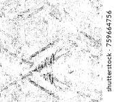 grunge black and white pattern. ... | Shutterstock . vector #759664756