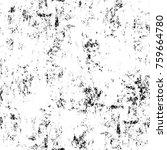 grunge black and white pattern. ... | Shutterstock . vector #759664780
