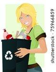 a vector illustration of a girl ...   Shutterstock .eps vector #75966859