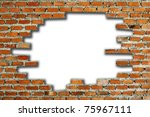 Old Grunge Brick Wall With...