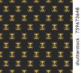 insect pattern. vector modern... | Shutterstock .eps vector #759673648