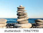 seashore background with stone ... | Shutterstock . vector #759677950