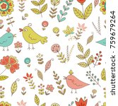 vintage seamless pattern for... | Shutterstock . vector #759679264