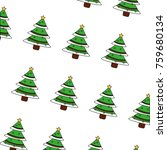 green christmas tree decoration ... | Shutterstock .eps vector #759680134