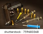 sales of narcotics. weapon and... | Shutterstock . vector #759683368