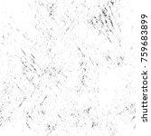 grunge black and white pattern. ... | Shutterstock . vector #759683899