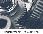 close up view of stack of gears   Shutterstock . vector #759684328