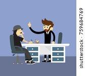 office worker business... | Shutterstock .eps vector #759684769