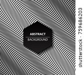 abstract curve black and white... | Shutterstock .eps vector #759686203
