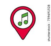 music social media round... | Shutterstock .eps vector #759691528