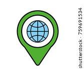 globe social media round... | Shutterstock .eps vector #759691534