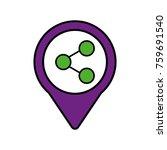 share link social media round... | Shutterstock .eps vector #759691540